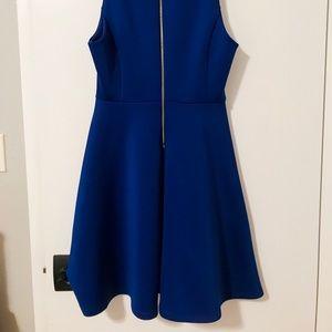 Milly Dresses - Royal blue neoprene dress with gold zipper back